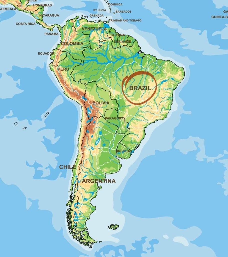 Brasilien Kaffeeanbaugebiet