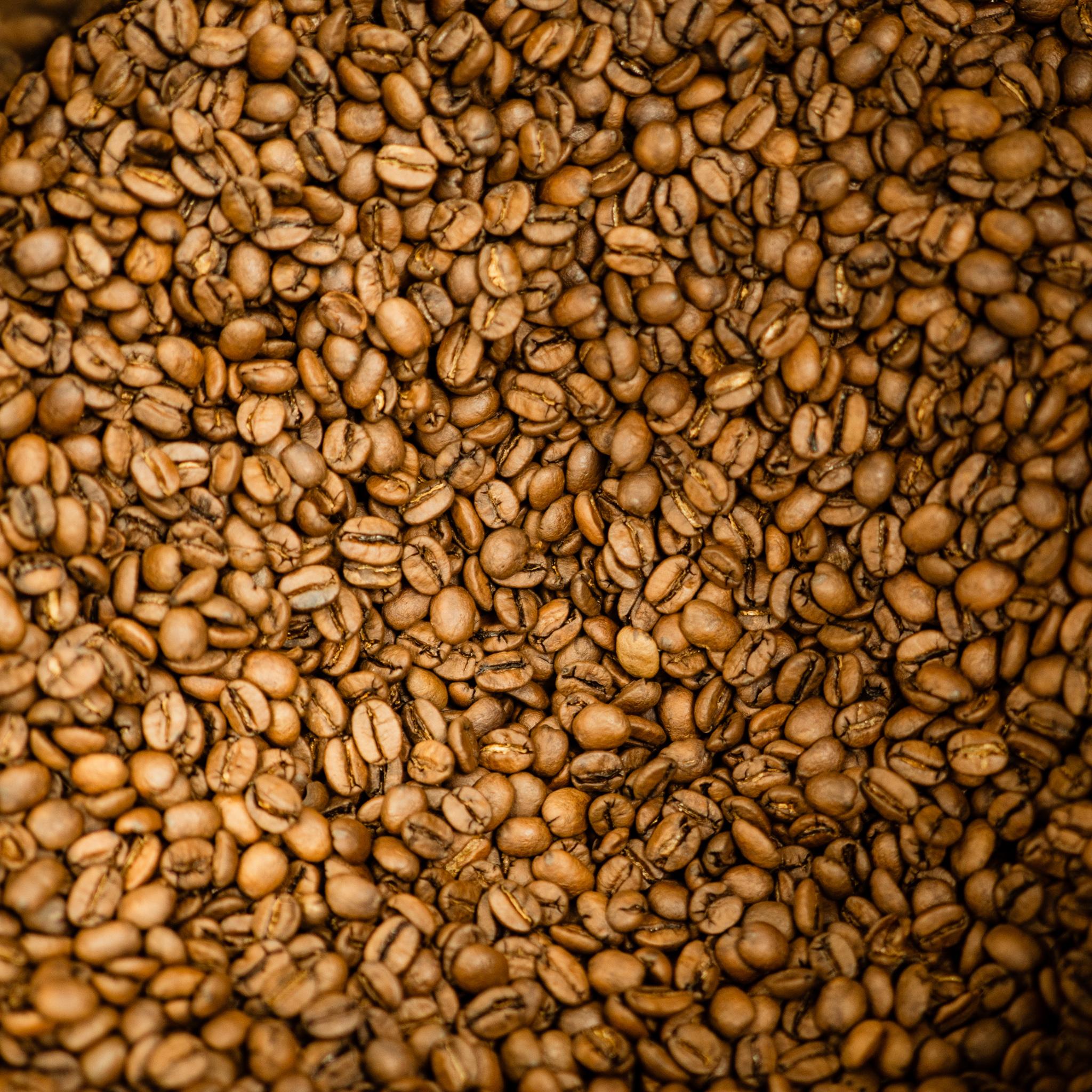 Trommelröstung Kaffeebohnen