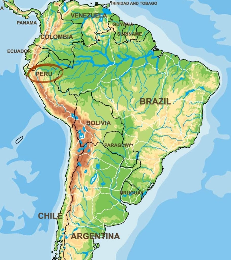 Peru Kaffeeanbaugebiet