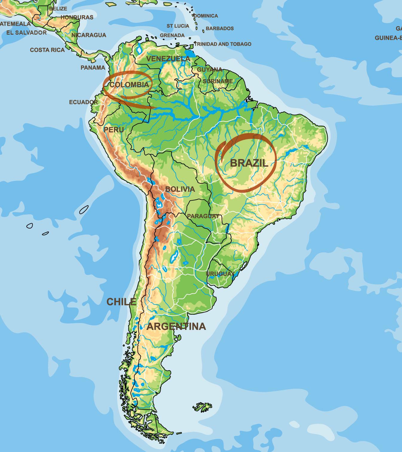 Kaffeeherstellung Brasilien Kolumbien
