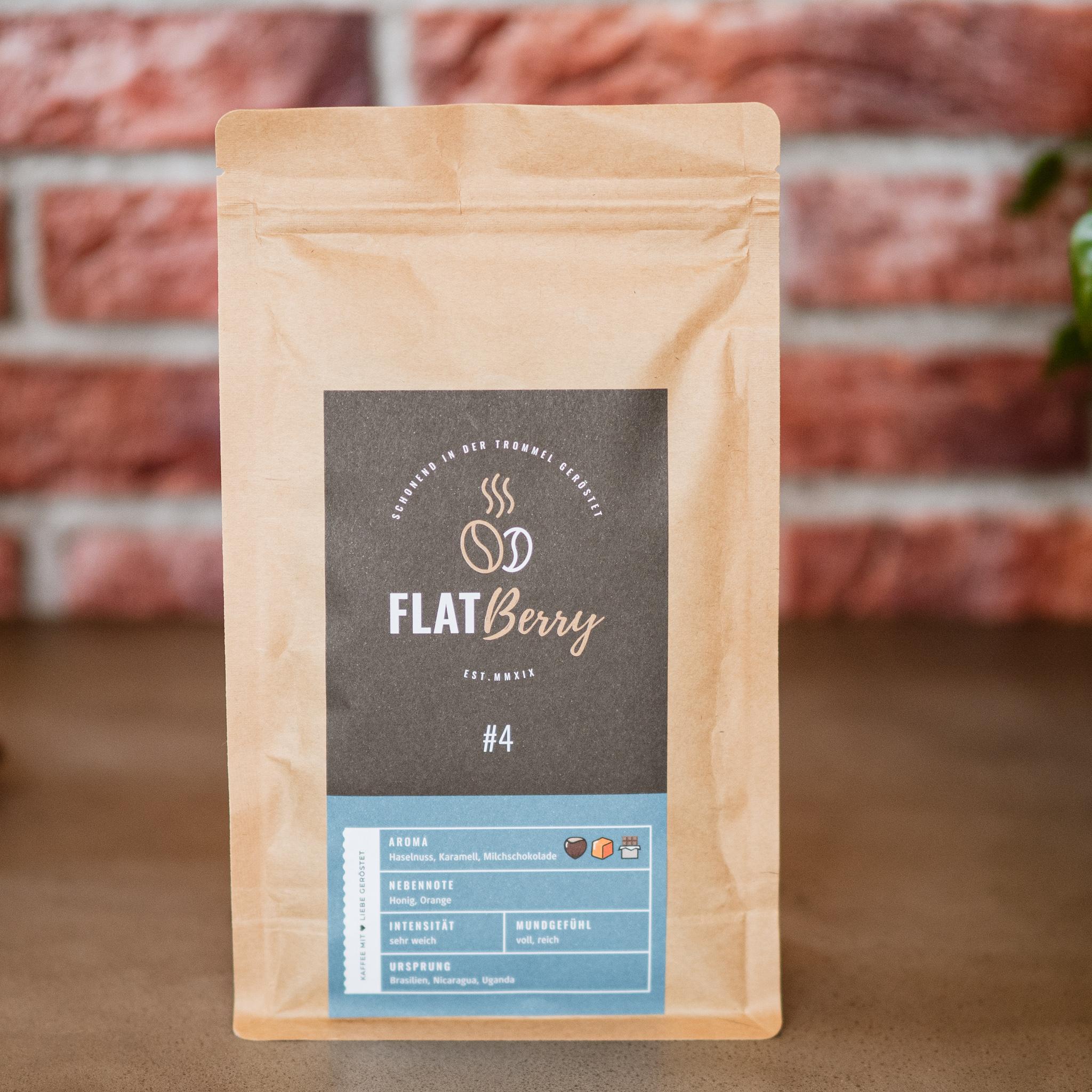 Flatberry Kaffee 4 karamellig Vollautomat