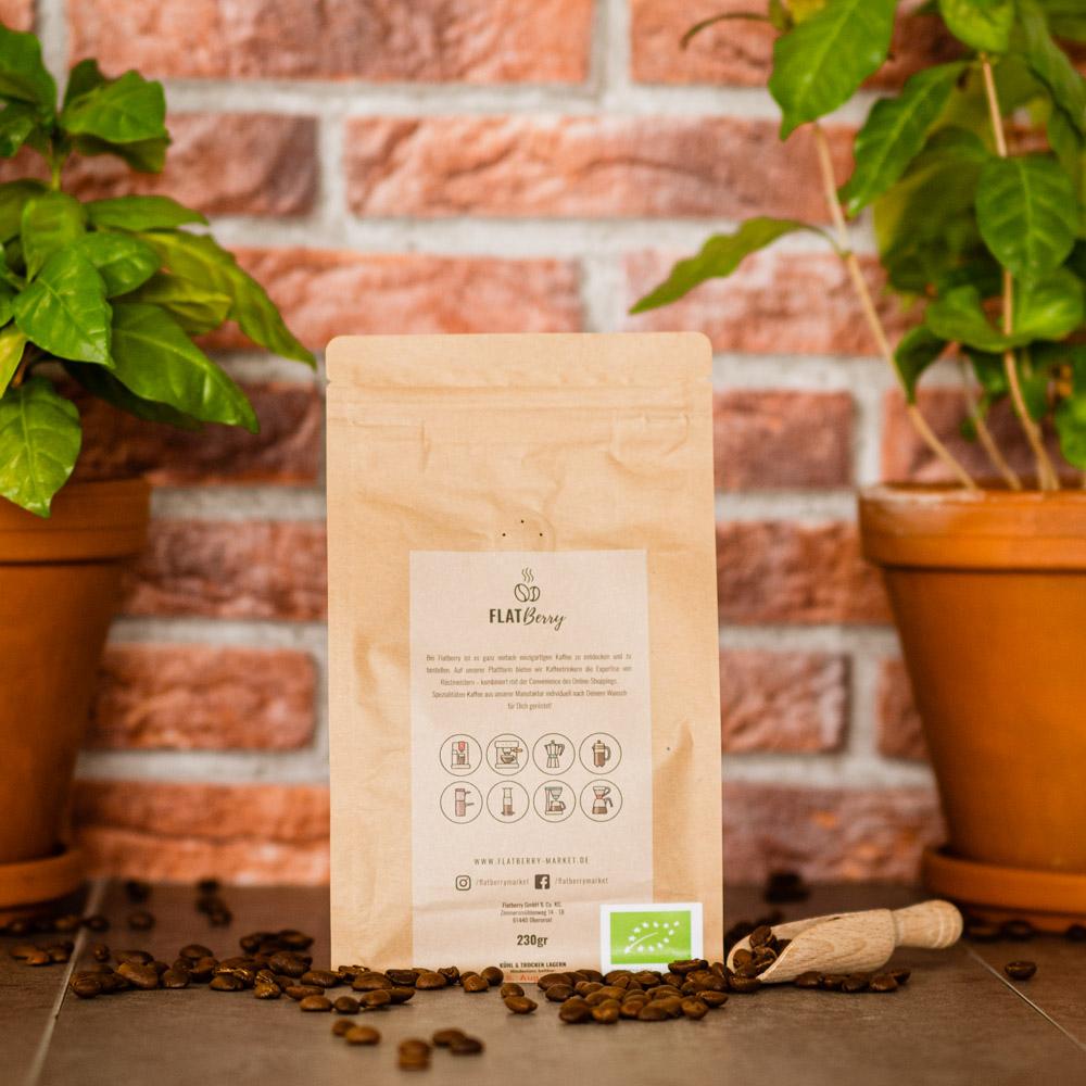 Bio Kaffee Rückseite