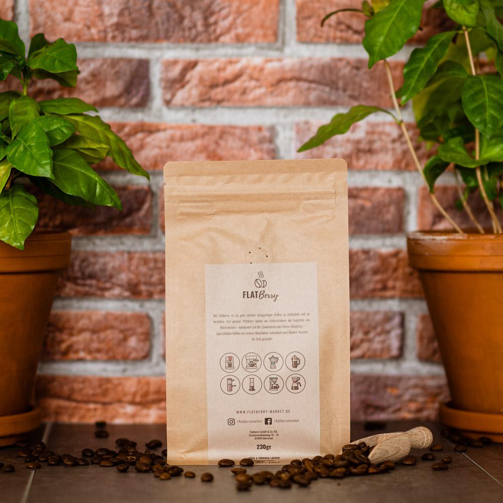 Kaffee Rückseite Verpackung