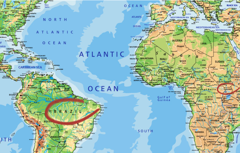 Kaffeeanbaugebiet Herkunft Brasilien Uganda